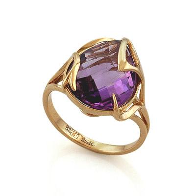 Кольцо с аметистом огранки бриолет 5.9 г SL-2140-595
