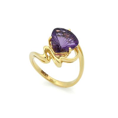 Кольцо с аметистом из желтого золота 4.7 г SL-2207-450