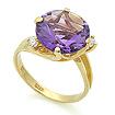 Золотое кольцо с аметистом и бесцветными топазами SL-2112-410 весом 4.5 г  стоимостью 25200 р.